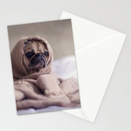Pug In A Blanket Stationery Cards