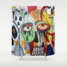 Smile at fear Shower Curtain