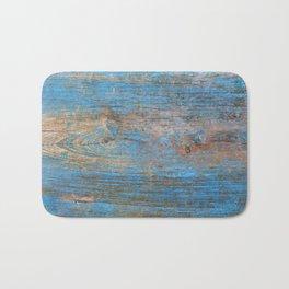 Blue Wood Grain Bath Mat