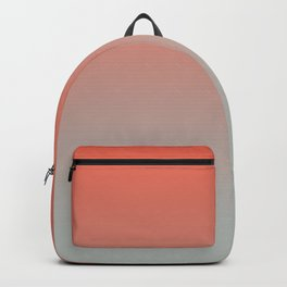 Pantone Living Coral & Storm Gray Gradient Ombre Blend Backpack