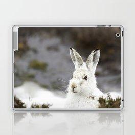 white mountain hare Laptop & iPad Skin