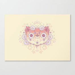 Cat flowers Canvas Print