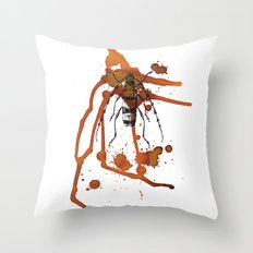 Insect in Ink 01 Throw Pillow