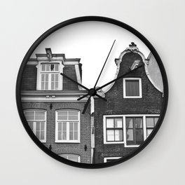 Amsterdam Houses - Urban Photography Wall Clock