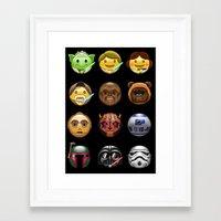 emoji Framed Art Prints featuring Emoji Wars by Vincent Trinidad
