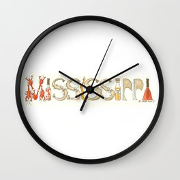 MISSISSIPPI - House Divided Wall Clock