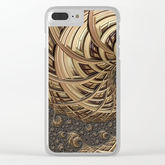 Fractal in Neutrals Clear iPhone Case