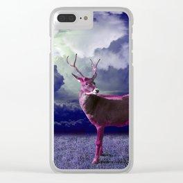 Le cerf dans les nuages Clear iPhone Case