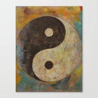 yin yang Canvas Prints featuring Yin Yang by Michael Creese