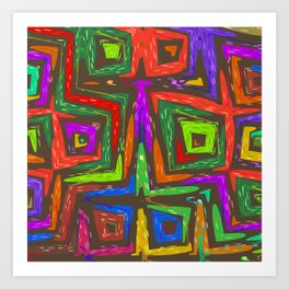 Let's Abstract Art Print