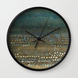 Landscape Dots - Night Wall Clock