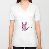mouse V-neck T-shirts featuring Mouse by jebirvoki