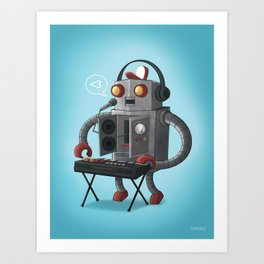 binary love Art Print