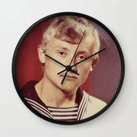 soviet Wall Clocks featuring The Soviet seaman. by Mikhail Zhirnov