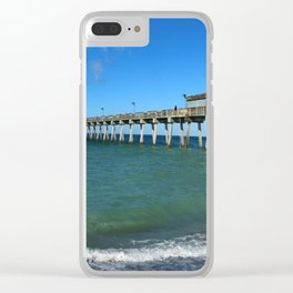 Winter In Florida Clear iPhone Case