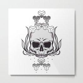 skull+ Metal Print