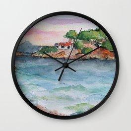 Croatian sunset Wall Clock
