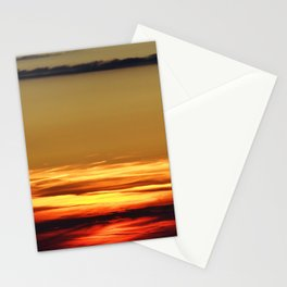 sunset in Chasseral, Switzeraland Stationery Cards