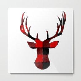 Deer Plaid Metal Print