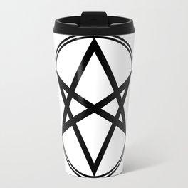 Men of Letters Symbol Black Travel Mug