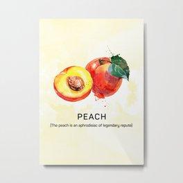 Fun with Fruits - The Peach Metal Print