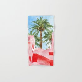 Pink Tropical #painting #tropical Hand & Bath Towel