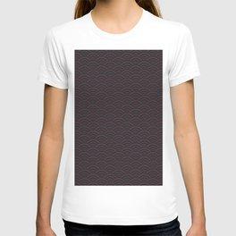Seigaiha Wave Maroon & Navy No. 2 T-shirt