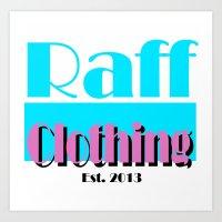 riff raff Art Prints featuring Raff Vice by The Raff