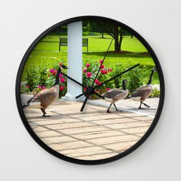 Geese Family Wall Clock