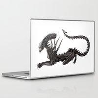 xenomorph Laptop & iPad Skins featuring Xenomorph Warrior Babe by Aisha Diandra