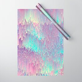 Iridescent Glitches Wrapping Paper