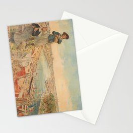 retro chemin de fer dorléans   bretagne   nantes. circa 1900  Stationery Cards