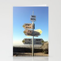 israel Stationery Cards featuring CrossRoads in Israel by David Frenkel