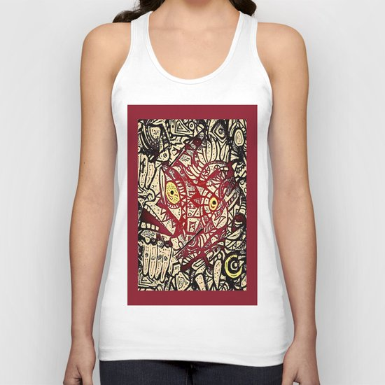 Shyly peeking from my heart, protective layers blown apart Unisex Tank Top