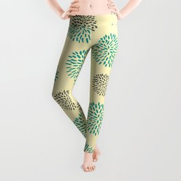 Pastel Yellow Burst Leggings