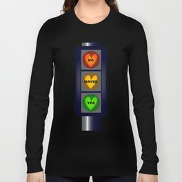 Yes No Maybe Traffic Lights Long Sleeve T-shirt