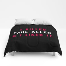 American Psycho - I killed Paul Allen. And I liked it. Comforters
