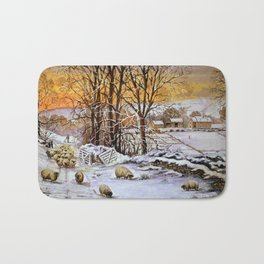 Winter in the Ribble valley Bath Mat