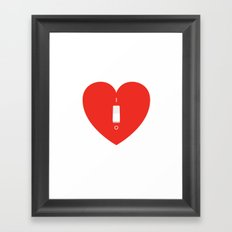 Switch Off My Heart Before You Leave Framed Art Print