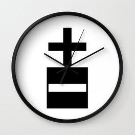 positive negative Wall Clock