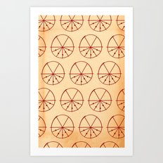 Circle Sections Art Print