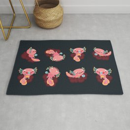 Umpearl the Axolotl Rug