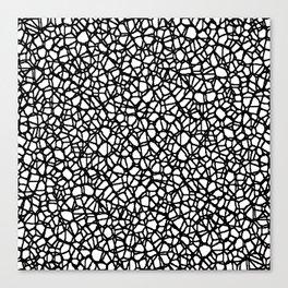 Staklo (Black) Canvas Print