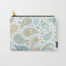 Paisley Funky Design Blues Creams & Caramels Carry-All Pouch