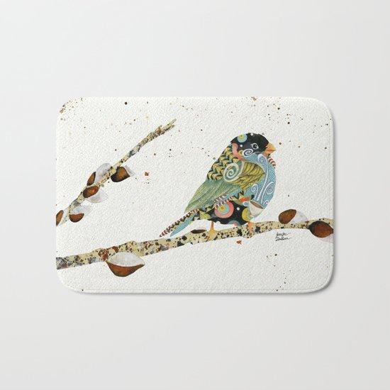 Cafe Swirly Bird 4 Bath Mat