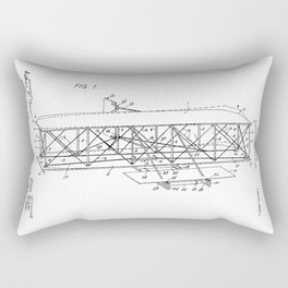 Wright Brothers Patent: Flying Machine Rectangular Pillow