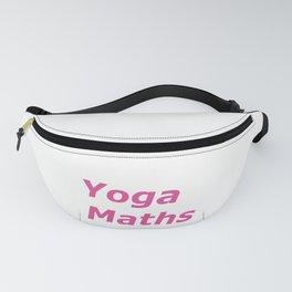 """Yoga Maths"" pink text artwork Fanny Pack"
