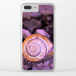 Snail's Pace Clear iPhone Case