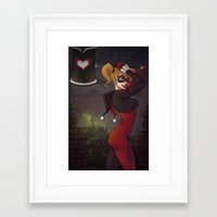 harley Framed Art Prints featuring Harley by ClarkeG