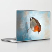 robin Laptop & iPad Skins featuring Robin by Freeminds